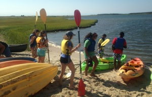 PICTURE 3_YES youth prepare to sea-kayak at Chappaquiddick Island